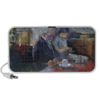 Edvard Munch - At the Coffee Table Painting PC Speakers