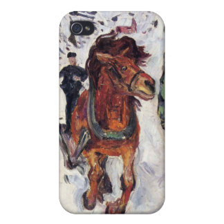 Edvard Munch - Galloping Horse Painting Case For The iPhone 4