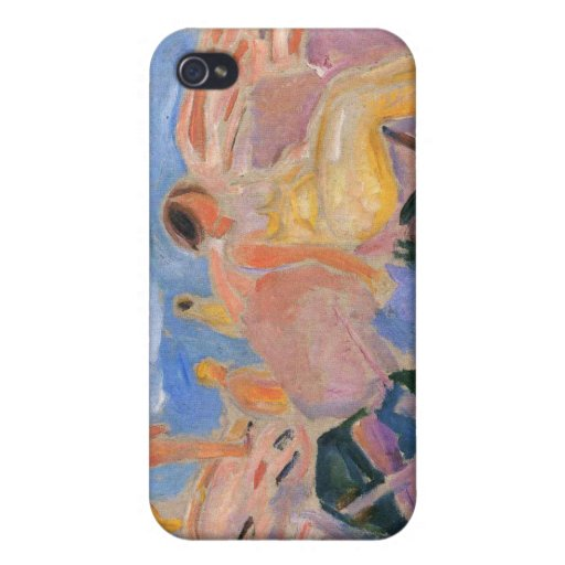 Edvard Munch - High Summer Painting Case For iPhone 4