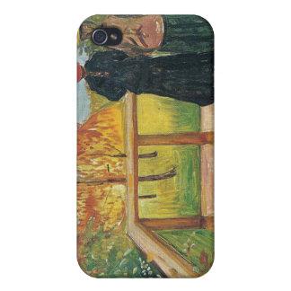 Edvard Munch - Rain Painting iPhone 4/4S Covers