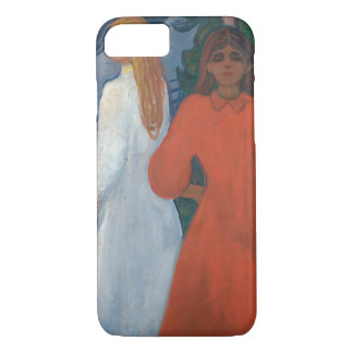 Edvard Munch - Red and White iPhone 7 Case