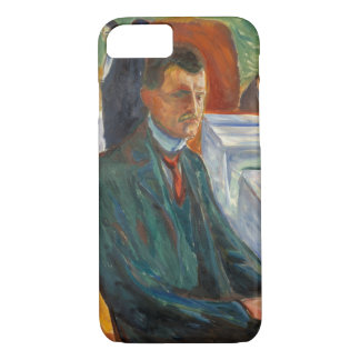 Edvard Munch - Self-Portrait with a Bottle of Wine iPhone 7 Case
