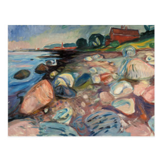 Edvard Munch - Shore with Red House Postcard