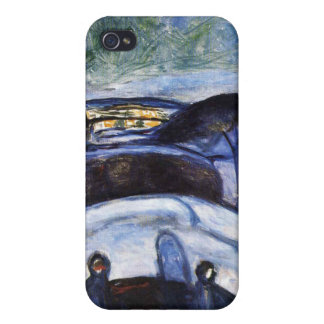 Edvard Munch - Starry Night Painting iPhone 4/4S Case