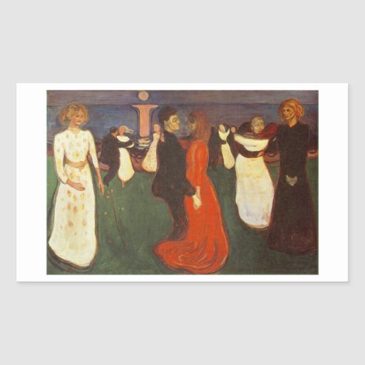 Edvard Munch - The Dance Of Life Rectangle Stickers