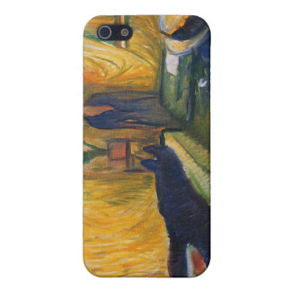 Edvard Munch - the murderess painting iPhone 5 Cases