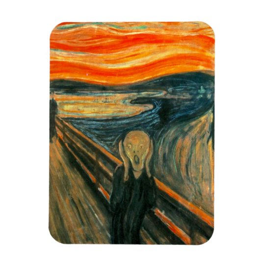 EDVARD MUNCH - The scream 1893 Rectangular Photo Magnet