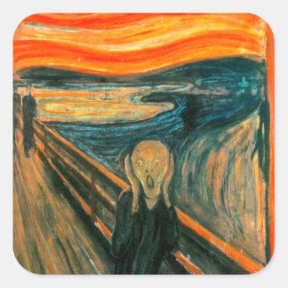 EDVARD MUNCH - The scream 1893 Square Sticker