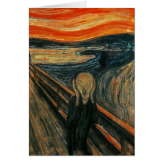 Edvard Munch - The Scream Card