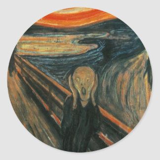 Edvard Munch - The Scream Round Sticker