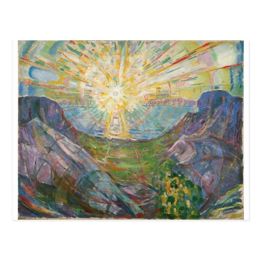 Edvard Munch - The Sun, 1916 Postcard