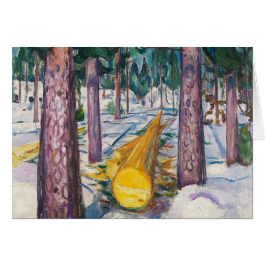 Edvard Munch - The Yellow Log Card