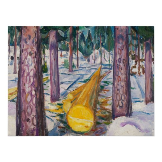 Edvard Munch's The Yellow Log Poster