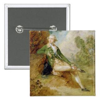 Edward Augustus, Duke of Kent, c.1787 (oil on canv 15 Cm Square Badge
