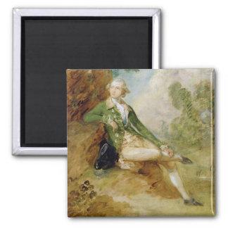 Edward Augustus, Duke of Kent, c.1787 (oil on canv Square Magnet