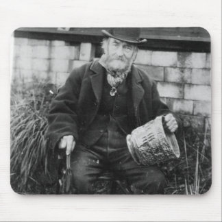 Edward Bingham holding one of his Castle Mouse Mat