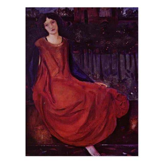 Edward Burne-Jones: Girl and Goldfish Postcard