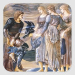 Edward Burne-Jones- Perseus and the Sea Nymphs Square Sticker