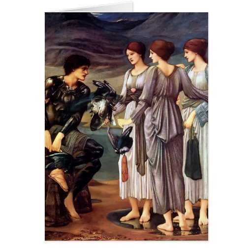 Edward Burne-Jones- The Arming of Perseus Card