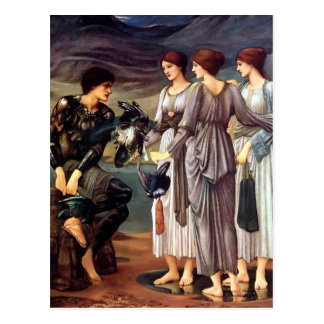 Edward Burne-Jones- The Arming of Perseus Postcard