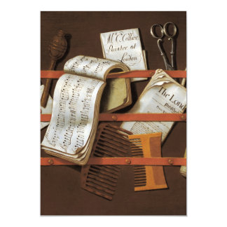 Edward Collier - Letter rack 13 Cm X 18 Cm Invitation Card