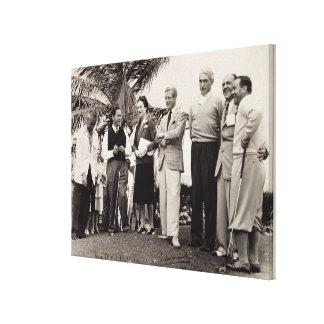 Edward, Duke of Windsor (1894-1972) and Wallis, Du Stretched Canvas Print