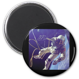 Edward H. White first American Space Walker NASA 6 Cm Round Magnet