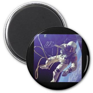 Edward H. White first American Space Walker NASA 6 Cm Round Magnet