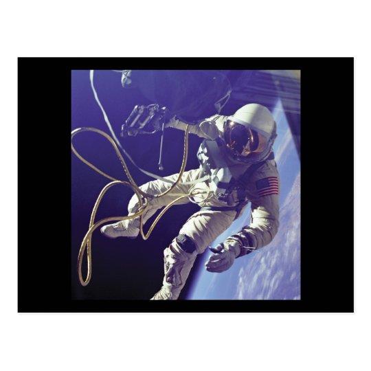 Edward H. White first American Space Walker NASA Postcard
