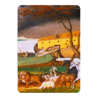 Edward Hicks Noah's Ark 13 Cm X 18 Cm Invitation Card