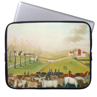 Edward Hicks - The Cornell Farm Laptop Computer Sleeves