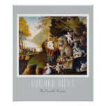 Edward Hicks - The Peaceable Kingdom Poster