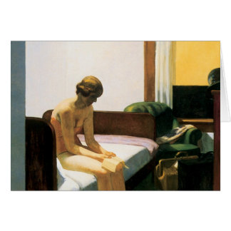 Edward Hopper Hotel Room Card