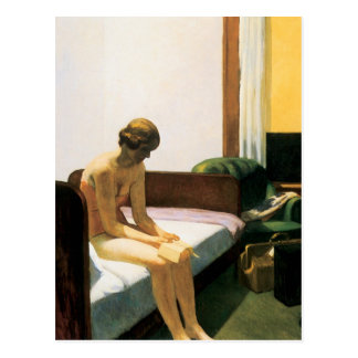 Edward Hopper Hotel Room Postcard
