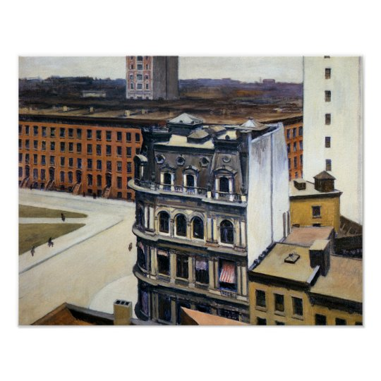 "Edward Hopper The City 13""x17"" Poster"