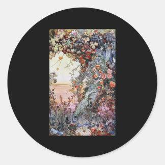 Edward Julius Detmold Fruits Of The Earth Round Sticker