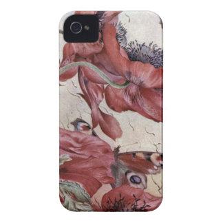 Edward Julius Detmold Poppies And Butterflies iPhone 4 Case-Mate Case
