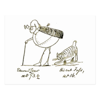 Edward Lear and Foss Postcard