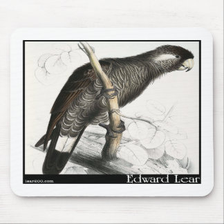 Edward Lear's Baudin's Cockatoo Mouse Pads