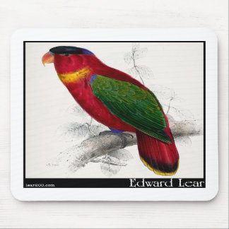 Edward Lear's Black-Capped Lory Mouse Pads