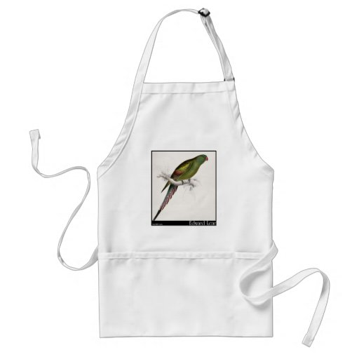 Edward Lear's Blossom-Feathered Parakeet Apron