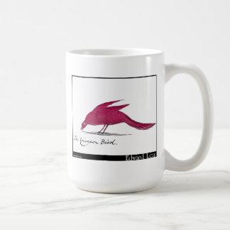 Edward Lear's Crimson Bird Coffee Mug