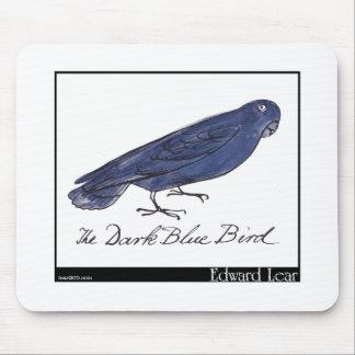 Edward Lear's Dark Blue Bird Mouse Pad