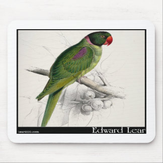 Edward Lear's Hooded Parakeet Mousepads