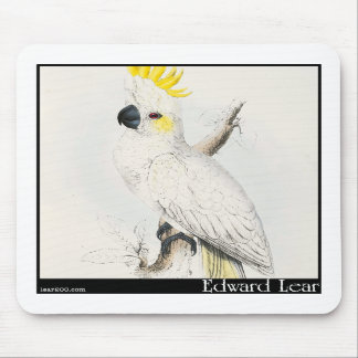 Edward Lear's Lesser Sulphur-Crested Cockatoo Mouse Pads