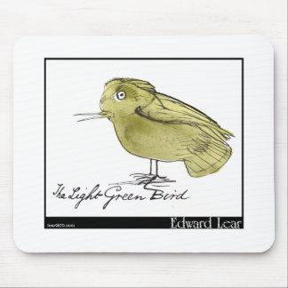 Edward Lear's Light Green Bird Mouse Pad