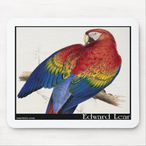 Edward Lear's Red and Yellow Macaw Mousepad