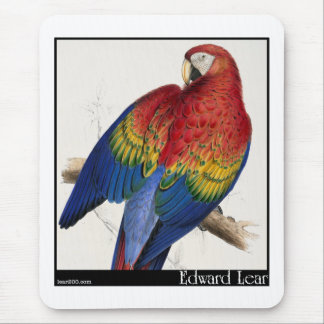 Edward Lear's Red and Yellow Macaw Mouse Pad