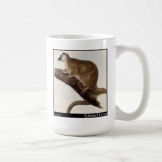 Edward Lear's Red Macauco (Red Lemur) Coffee Mugs