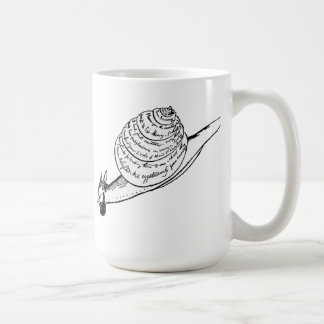 Edward Lear's Snail Mail Basic White Mug